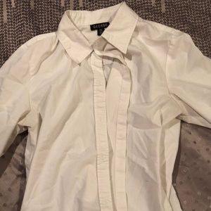 White Collared Button Up